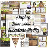 Shiplap, Barnwood, and Succulents Oh My! -Farmhouse Watercolor Decor
