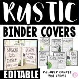 Editable Rustic Shiplap Binder Covers and Spines