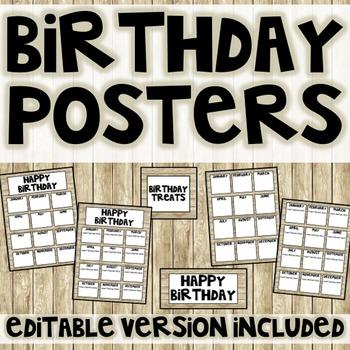 Shiplap Birthday Poster (Editable)