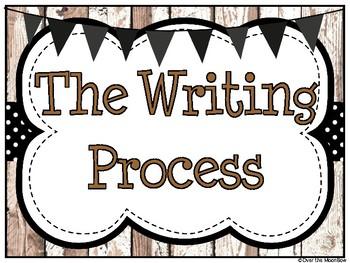 Shiplap & Black Writing Process Workshop Displays & Clip Chart