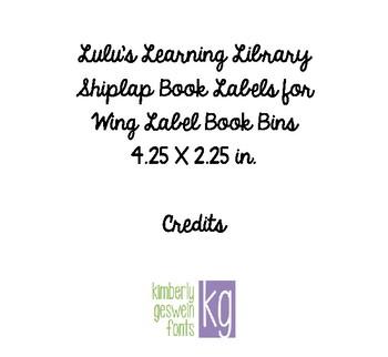 Shiplap Book Bin Labels Editable