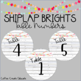 Shiplap Brights Table Numbers