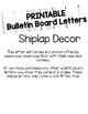 Shiplap Bulletin Board Letters (Printable)