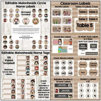 Burlap, Shiplap & Chalkboard Too! Classroom Decor Jumbo Set