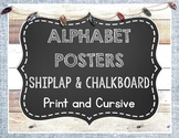Shiplap and Chalkboard Alphabet Posters