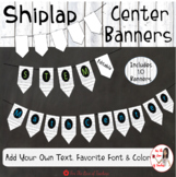 Center Banners Shiplap Decor (Editable)
