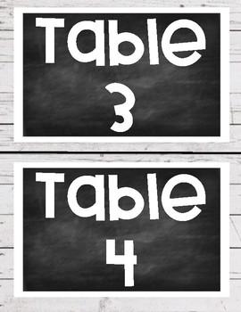 Shiplap/Chalkboard Table Signs