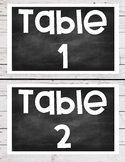 Shiplap/Chalkboard Table Signs