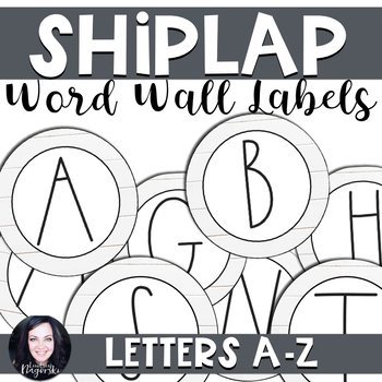 Shiplap Chic Farmhouse Word Wall Labels