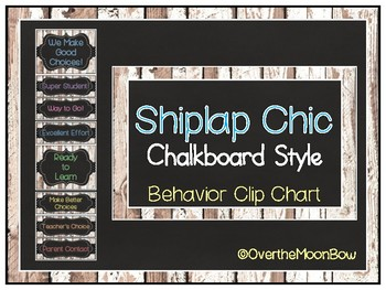 Shiplap Chic Rustic Wood Chalkboard Behavior Clip Chart