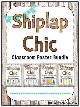 Shiplap Chic | Rustic Wood | Classroom Décor Poster Bundle