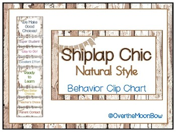 Shiplap Chic Rustic Wood Natural Style Behavior Clip Chart