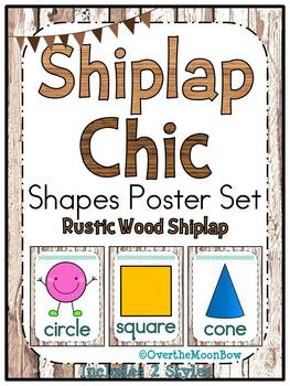 Shiplap Chic Rustic Wood | Shapes Poster Set