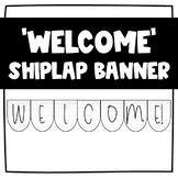 Shiplap Classroom Banner