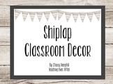 Shiplap Classroom Decor