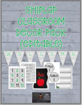 Shiplap Classroom Decor Pack