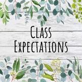 Shiplap Classroom Expectations