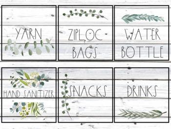 Shiplap Classroom Labels