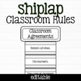 Shiplap Classroom Rules