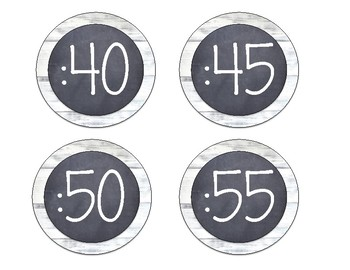 Shiplap Clock Minute Labels
