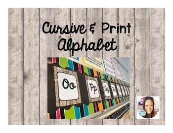Shiplap Cursive & Print Alphabet