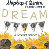 Shiplap & Denim Bulletin Board Letters and Pennant Banner Letters