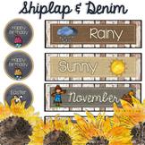 Shiplap & Denim Calendar Set - Shabby Chic and Farmhouse Inspired Decor
