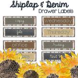 Shiplap & Denim {Editable} Drawer Labels - Shabby Chic & F