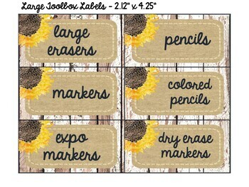 Shiplap & Denim Teacher Toolbox Labels {Editable} - Shabby Chic & Farmhouse