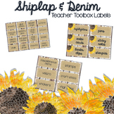 Shiplap & Denim Teacher Toolbox Labels {Editable} - Shabby