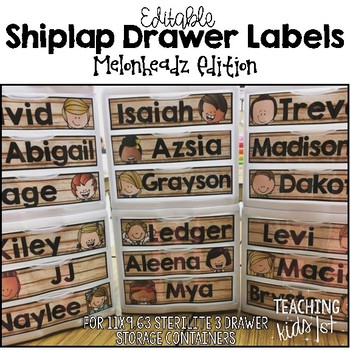 Shiplap Drawer Labels Melonheadz Edition EDITABLE!