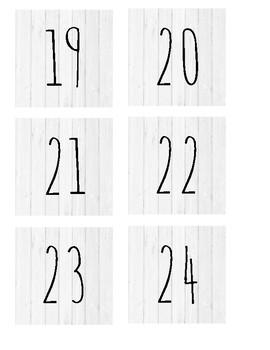 Shiplap Dunn Inspired Calendar