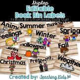 Shiplap Editable Book Bin Labels