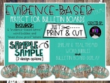 Evidence-based Writing Terms Bulletin Board Display- Shiplap & Teal