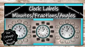 Shiplap/Farmhouse Clock Labels