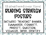 Shiplap/Farmhouse Floral Reading Strategies Posters