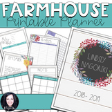 Shiplap Farmhouse Printable Teacher Planner
