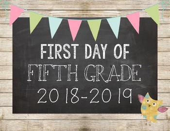 Shiplap First Day of School Signs