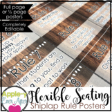 Shiplap Flexible Seating EDITABLE Rule POSTERS