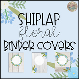 Shiplap Floral Binder Covers-Editable!