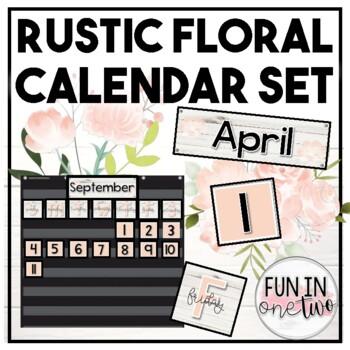 Shiplap Floral Calendar Set ♥ Rustic Decor