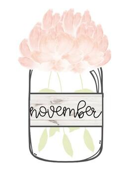 Shiplap Floral Classroom Birthdays Chart ♥ Rustic Decor