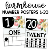 Shiplap Floral Number Posters 1-20