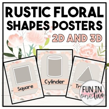 Shiplap Floral Shapes Posters ♥ 2D AND 3D ♥ Rustic Decor