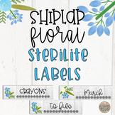 Shiplap Floral Sterilite Labels-Editable!