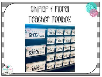 Shiplap & Floral Teacher Toolbox