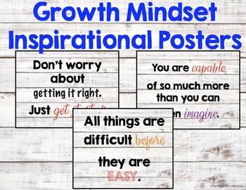 Shiplap Growth Mindset Inspirational Posters