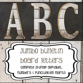 Shiplap - Jumbo Bulletin Board Letters