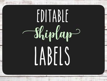 Editable Shiplap Labels FREEBIE