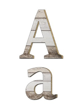 Shiplap Letters for Bulletin Boards